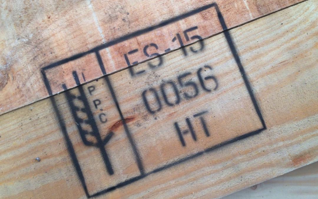 El marcado NIMF en embalajes de madera